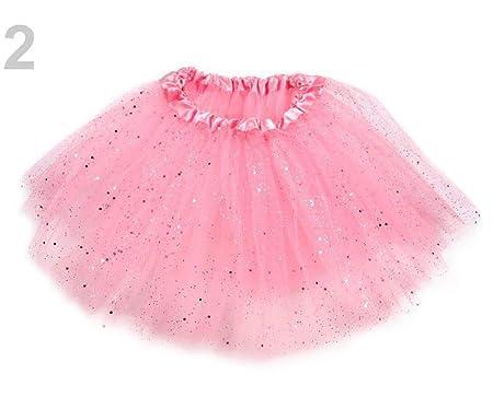 1pc de la Luz Rosa del Carnaval de la Falda, Con Brillos ...