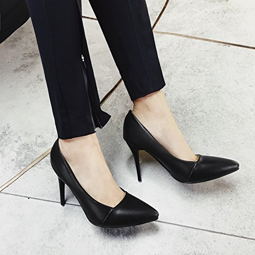 Black Pointed Stiletto Pumps Womens Toe Foot Elegant Charm Shoes zt8Fw1zqx