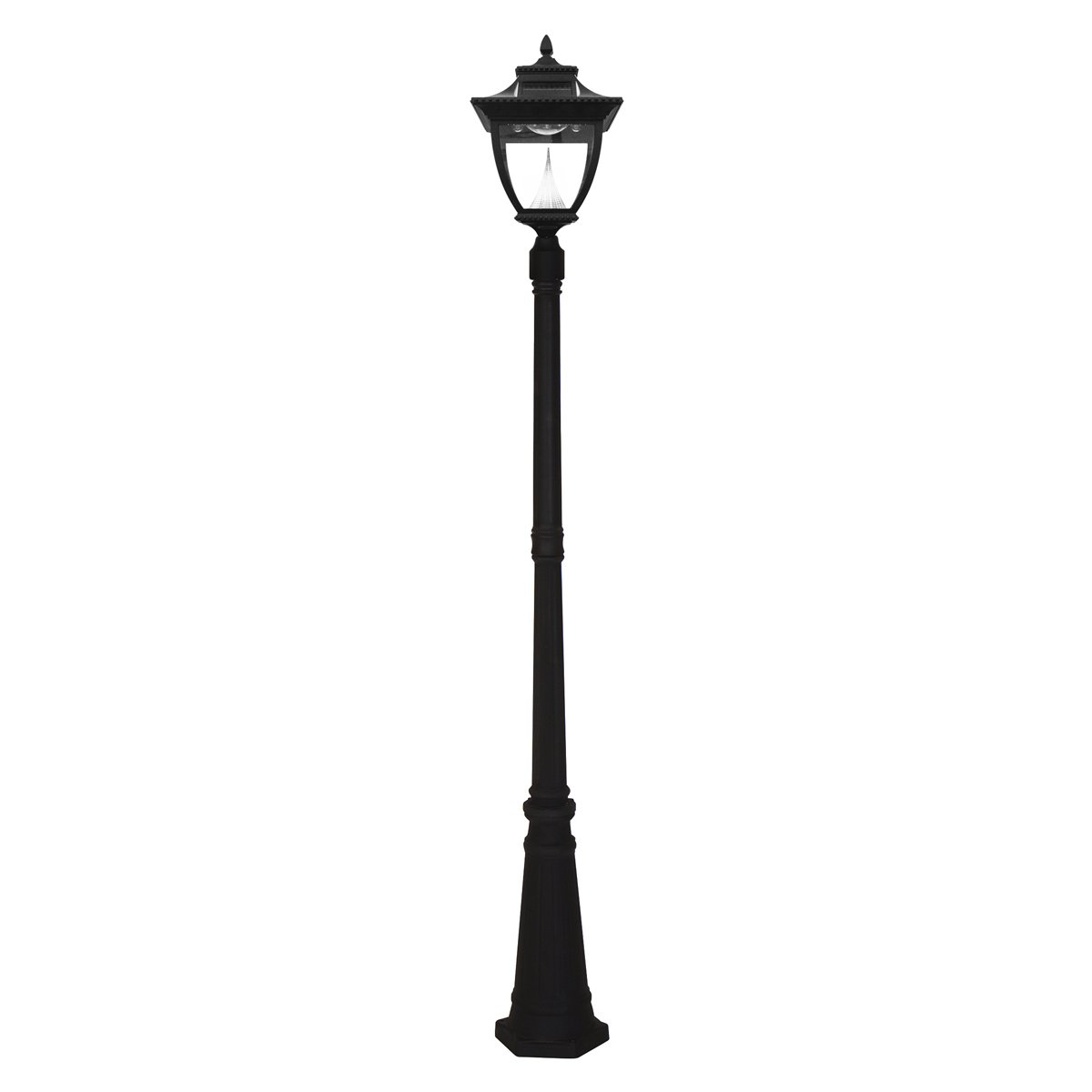 Gama Sonic GS-104S Pagoda Lamp Post Outdoor Solar Light Fixture and Pole