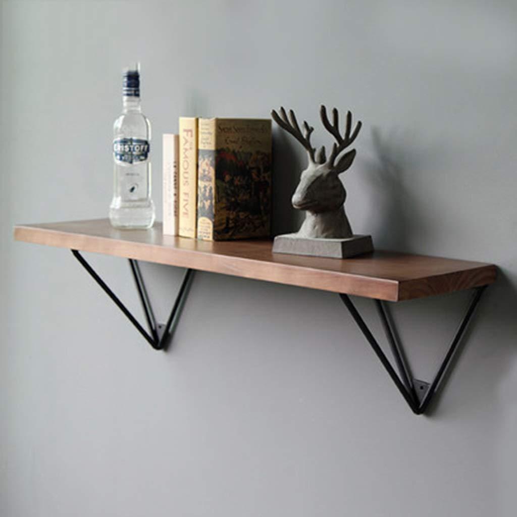 JJ_Industrial レトロなインダストリアルスタイルのワードパーティション錬鉄製の木製の壁の棚のリビングルームの寝室のシンプルな壁掛け (サイズ さいず : 100cm) B07RL4XV45  100cm