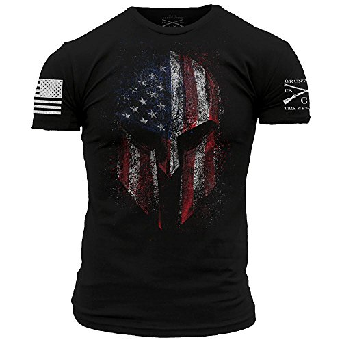 Grunt Style American Spartan 2.0 Men's T-Shirt, Color Black, Size - For Styles Men