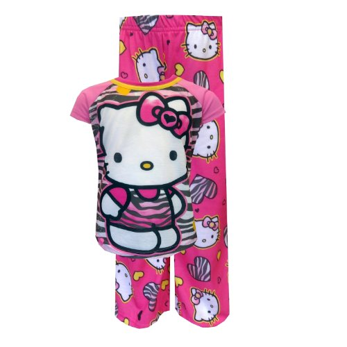 Zebra Kitty (Hello Kitty Zebra Kitty Pajamas for girls (8))