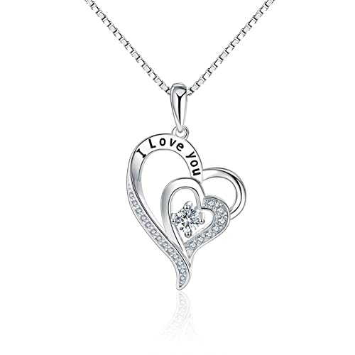 out day p love valentine s pendant hollow necklace heart valentines shape women silver