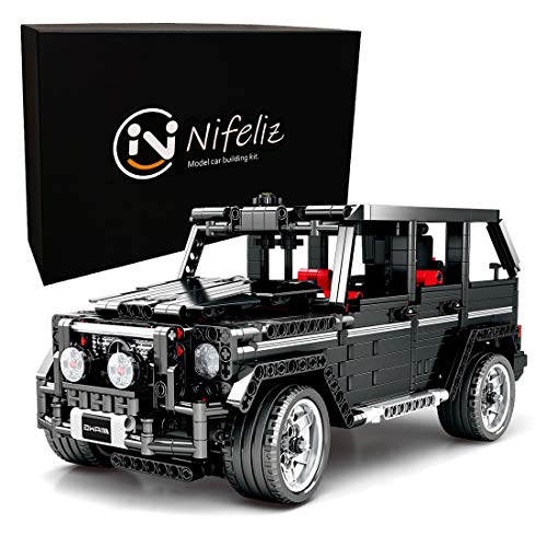 Nifeliz SUV Car G500 MOC Technique Building Blocks and Engineering Toy, Adult Collectible Model Cars Kits To Build, 1:12 Scale Truck Model (1343 Pieces) (1 12 Scale Car Model)