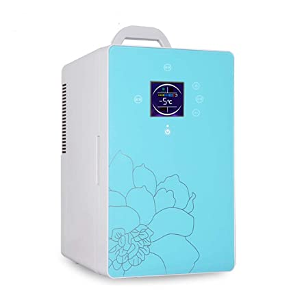 Refrigerador De Coche 16L Puerta Sencilla Refrigeración De Doble Núcleo Manija Portátil Refrigerador De Picnic Coche