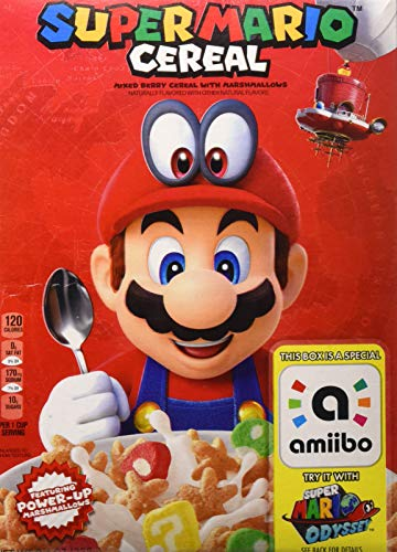 Kellogg's Super Mario Breakfast Cereal, Mixed Berry with Marshmallows, 8.4 oz