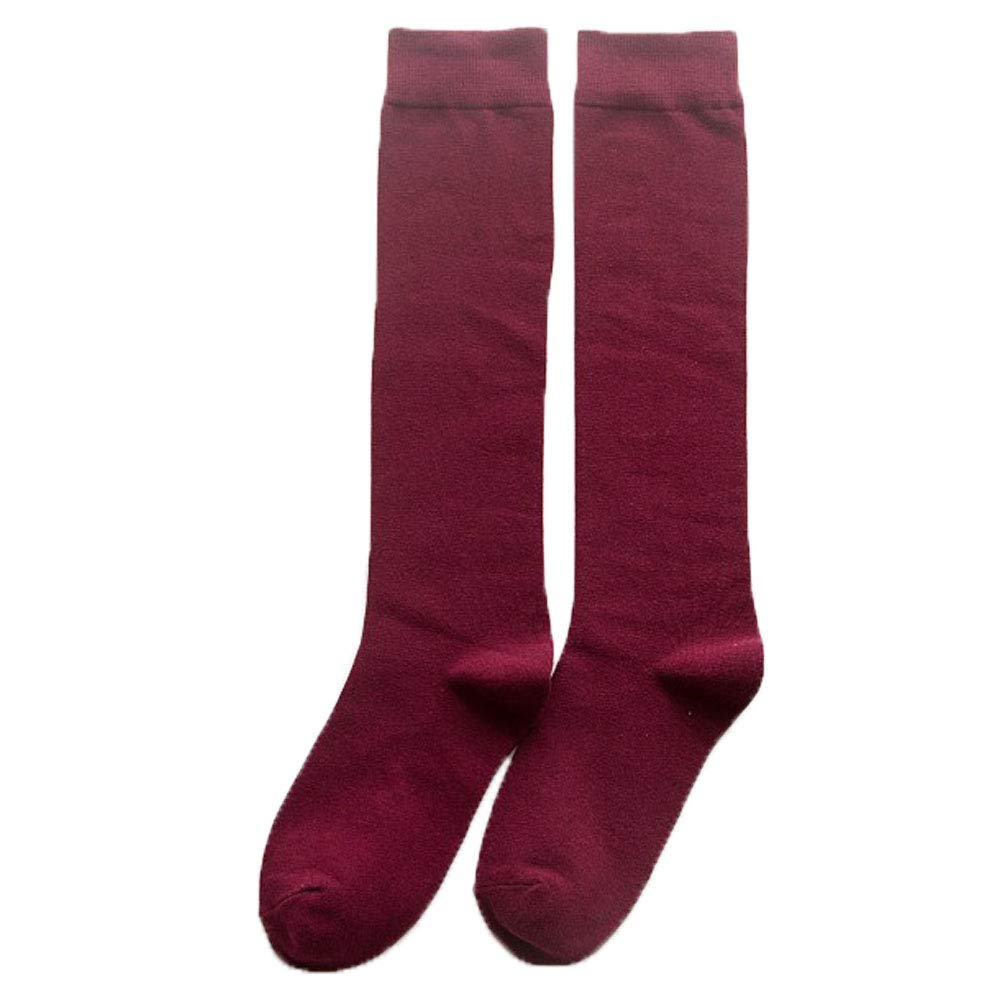 8e57ad58d0e9c GUIGU Fashion Simple Solid Color Stockings Long Casual Dress Socks (Red)