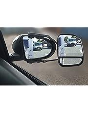 Espejo de remolque grande con reflector de punto ciego trasero derecho marcado E ideal para uso con caravana y remolques
