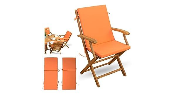 2 piezas Juego de fundas con respaldo # Naranja # para ...