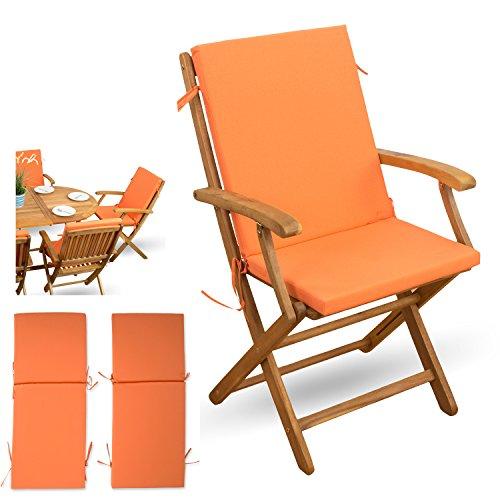 2-tlg-Auflagen-Set-mit-Rckenteil-orange-fr-verstellbaren-Klappstuhl-Sitzgruppen-Holzklappstuhl-Gartenstuhl-Holz-Gartenmbel-2x-Sitz-Auflagen-mit-Rckenteil