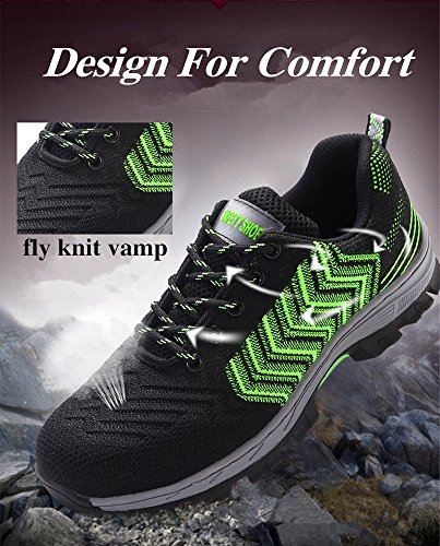 2018 Men Steel-Toe Safety Shoes Fashion Hiking Boots Construction Work Shoes by AiKim (Image #3)