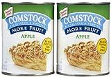 Comstock More Fruit Apple Filling, 21 oz, 2 pk