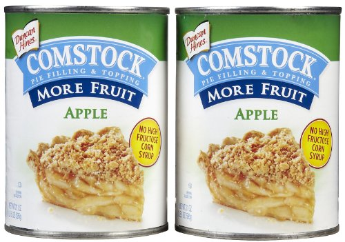 Comstock More Fruit Apple Filling, 21 oz, 2 (Comstock Fruit)