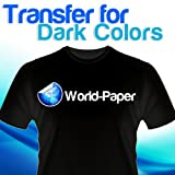Inkjet Heat Transfer Iron On Paper for Dark Color Fabric: 11'' x 17'' 200 Sheets