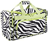 Green Zebra Print Duffle Gym Dance Cheer Pageant Bag, Bags Central