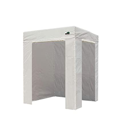 low priced 7c798 33498 Eurmax Basic 5x5 Ez Pop up Canopy Photo Booth Tent with 4 Removable Zipper  End Side Walls with Deluxe Carry Bag (5x5 Flat White)