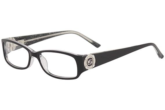 b5ece72450bb Amazon.com  Bebe GLITZY Eyeglasses BB5060 JET  Clothing