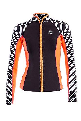 Stripes Collection Noir Jacket À Women's GlideSoul Pêche Vibrant Rayures Imprimé Rwt8OE