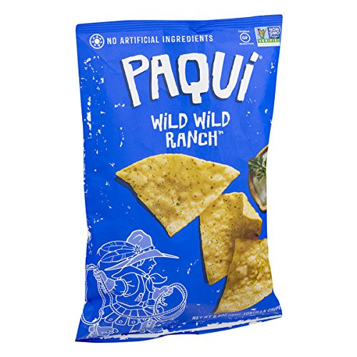 Paqui Tortilla Chips, Gluten Free Snacks, Wild Wild Ranch, 5.5oz (Pack of 12)