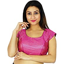 Ready-Made Indian Blouse Designer Stitched Weaving Wedding Crop- Top