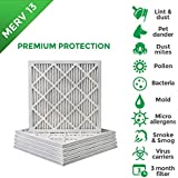 10x10x1 MERV 13 (MPR 2200) Pleated AC Furnace Air Filters. 12 PACK