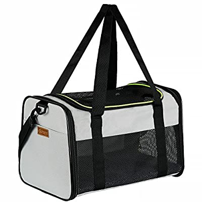 Akinerri Airline Approved Pet Carriers,Soft Sided Collapsible Pet Travel Carrier for Medium Puppy and Cats by Akinerri