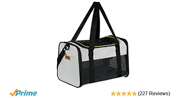 78191ae96f Amazon.com : Akinerri Airline Approved Pet Carriers, Soft Sided Collapsible  Pet Travel Carrier for Medium Puppy and Cats (Medium, Grey) : Pet Supplies