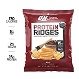 Optimum Nutrition High Protein Ridges, Baked Chips, Savory Snack to Go, Gluten Free