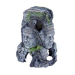 """Pen-Plax RR966 Cambodian Rock Faces Aquarium Figure, 6"""" x 7.5"""""""