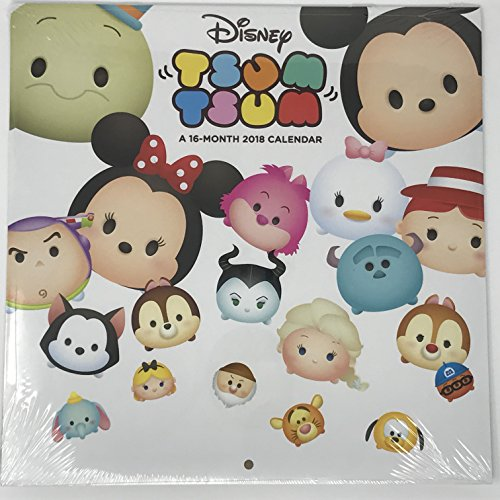 Disney Tsum Tsum 16 month 2018 Calendar