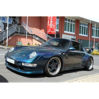 Porsche 911 Gemballa 993 Bi Turbo Blue Left Front HD Poster Super Car Jumbo 48 X 32 Inch Print