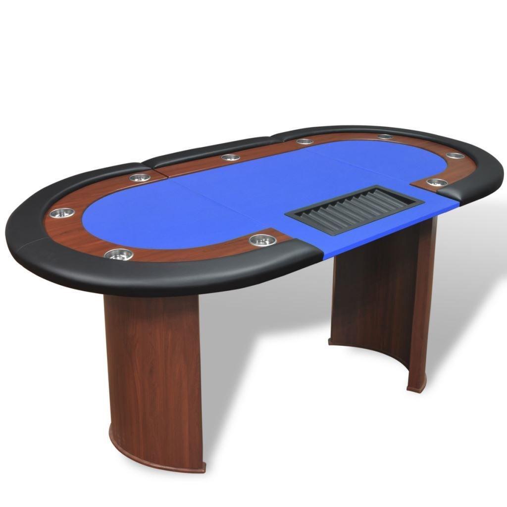10-player Poker CasinoカードトレイブルーゲームテーブルW/ Poker/ Dealer領域とチップのEnjoy 10-player Casino B079KSGGZR, プロアシストリサイクル:b9f5bae3 --- 2017.goldenesbrett.net