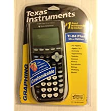 Texas Instruments TI-84 Plus Silver Graphing Calculator, Black/Dark Grey