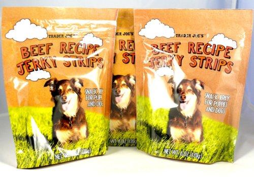 Trader Joe's Beef Recipe Jerky Dog Treats - Made in The USA