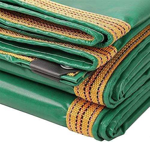 ヘビーデューティ多目的防水ポリターポリンPEタープ裏庭のテラスカバーUV耐性Backyaldカバー車の保護、木材、ボート、ガーデン、キャンプ、アウトドア1.9x3.8m (Color : Green, Size : 4.8×6.8m)