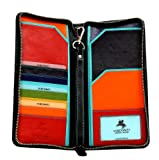 Visconti SP28 Multi Colored Soft Leather Travel Wallet, Bags Central