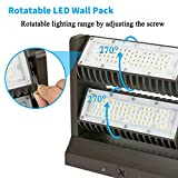 120W LED Wall Pack Rotatable Adjustable 16000LM