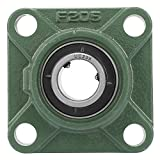 UCF205/205-16 30mm/25.4mm Pillow Block Square Bearing with Solid Base 4 Mounted Holes Bearing Base(01)