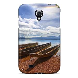 Awesome Design Nature Beach Canoeing On The River Hard Case Cover For Galaxy S4