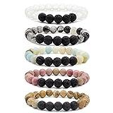 Bivei Lava Rock Stone Essential Oil Diffuser Bracelet Review and Comparison