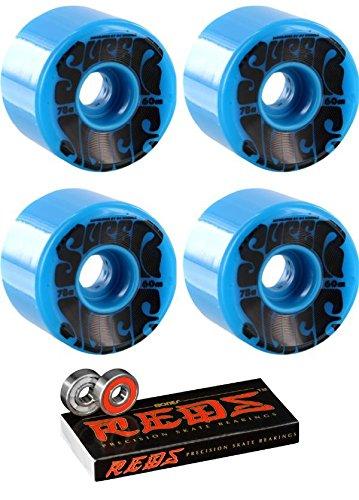 クリスマスクリケットはさみOJ Wheels 60 mmスーパージュースLongboard Skateboard Wheels with Bones Bearings – 8 mm Bones Reds Precisionスケート定格スケートボードベアリング – 2アイテムのバンドル