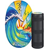 INDO BOARD Original with Bamboo Beach Design The Original Balance Board Since 1998 - Improves Balance, Stability, Posture and Core Strength All While Having Fun Indoors or Outdoors
