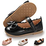 Toddler Little Girls Dress Shoes Ballet Sparkle Wedding Party Mary Jane Princess Flats Shoes, 8 Toddler, 01 Black Toddler Girls Shoes