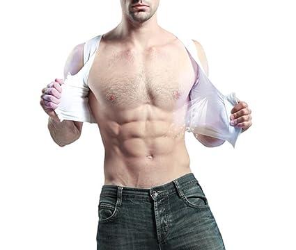 e318e0eaa93e4 Amazon.com  QQA Men s Body Shaper Corset Vest Hide Chest Slim Breathable  Comfort Invisible Freedom Adjustment Underwear Pull Backes