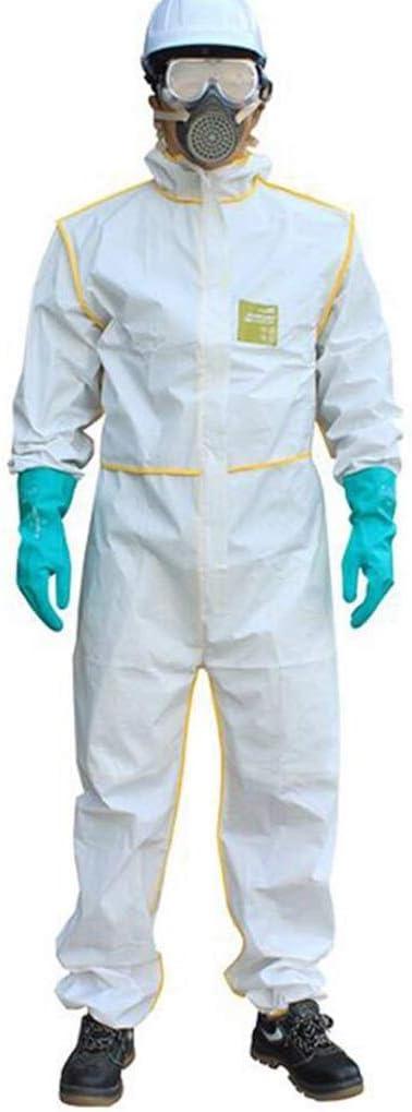 KLGW - Traje de protección química con capucha, antivirus, ácido transpirable y alcali (tipo 5/6), Fibra sintética, XX-Large: Amazon.es: Hogar