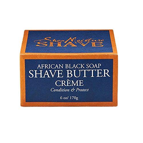 Shea Moisture Shave African Black Soap Shave Butter Creme, 6oz/170g