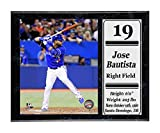 Encore Select 520-07 MLB Toronto Blue Jays Jose Bautista Stat Plaque with Photo, 12-Inch by 15-Inch