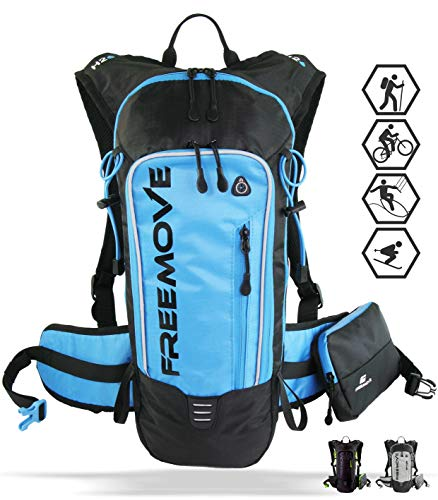 Hydration Backpack Hiking Gear, Running, Biking, MTB Cycling, Kayaking, Skiing. Durable, Lightweight, Adjustable, Water Resistant, Multiple Compartments Camel Backpack. Water Bladder is NOT Included