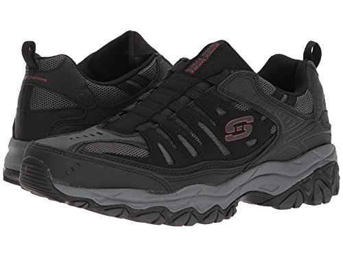 [SKECHERS(スケッチャーズ)] メンズスニーカー?ランニングシューズ?靴 After Burn M. Fit Black/Charcoal 10.5 (28.5cm) EE - Wide