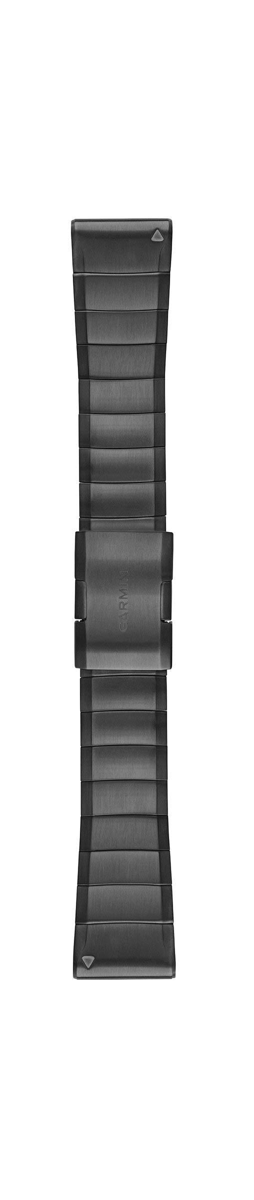 Garmin 010-12741-01 Quickfit 26 Watch Band - Carbon Grey DLC Titanium- Accessory Band for Fenix 5X Plus/Fenix 5X by Garmin (Image #1)